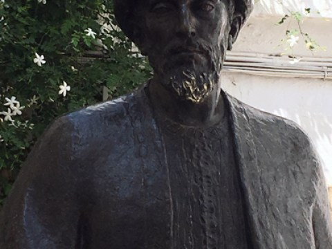 A statue of Maimonides in his hometown of Cordoba, Spain.