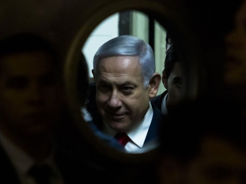 Prime Minster Benjamin Netanyahu attends the launch of the Likud party election campaign in Ramat Gan, March 4, 2019. (JTA/Amir Levy/Getty Images)