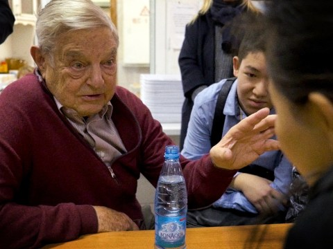 "George Soros in the documentary ""Soros."" (Jewish Film Institute)"