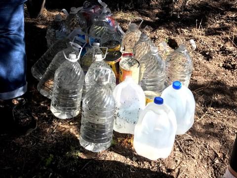 Water left for migrants. (Rokeya Akhter)