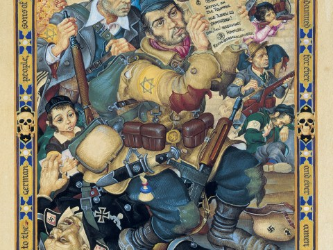 """""""My People. Samson in the Ghetto (The Battle of the Warsaw Ghetto)"""" (ARTHUR SZYK/COURTESY THE MAGNES COLLECTION)"""