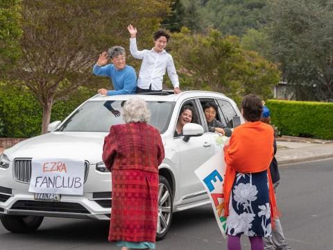 Ezra's official fan club rolls through. (Photo/Norm Levin)