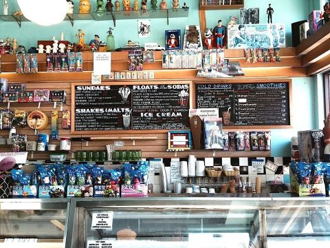 The counter at Toy Boat Dessert Café in San Francisco. (Photo/Courtesy)