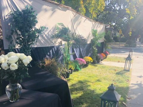 The sukkah at Chabad at Stanford. (Photo/Dov Greenberg)
