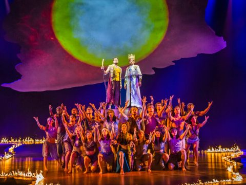 "A scene from the London production of ""The Prince of Egypt."" (Photo/JTA-Tristram Kenton)"
