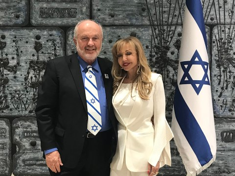 "Zvi Alon (left), seen here with his wife Ricki Alon, was ""extremely disappointed"" by Jews who voted for Biden. (Photo/Courtesy Zvi Alon)"