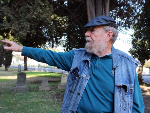 Stockton's Sheldon Barr, caretaker of the town's Jewish cemetery, the oldest continuously operating Jewish cemetery west of the Rockies. (Photo/Gabriel Greschler)