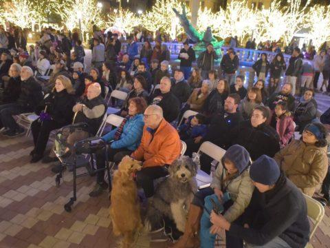 El Paso Jews gather in the city's San Jacinto Park for a menorah lighting in 2019. (Photo/JTA-Brian Kanof)