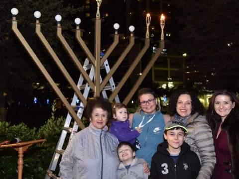 Chabad in Houston lights a large menorah at City Hall every year. (Photo/JTA-YJP Houston)