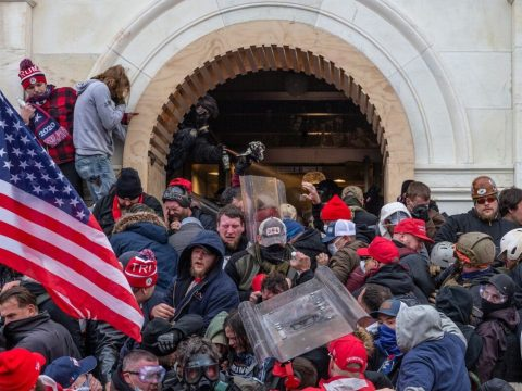 Police use tear gas around Capitol building where pro-Trump supporters riot and breached the Capitol, Jan. 6, 2021. (Photo/JTA-Lev Radin-Pacific Press-LightRocket via Getty Images)