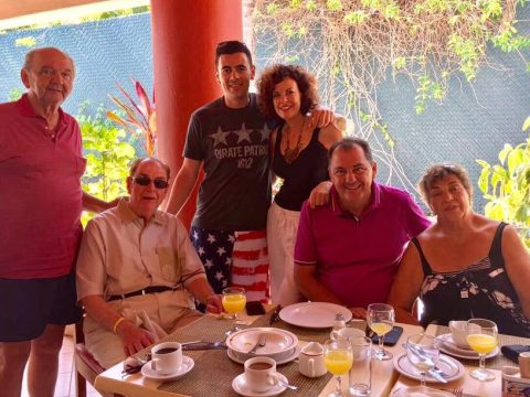 Araceli Kopiloff (fourth from left) lost her father, Dr. George Kopiloff (second from left), and her son Pablo Nalerio (third from left) to Covid within weeks of each other.