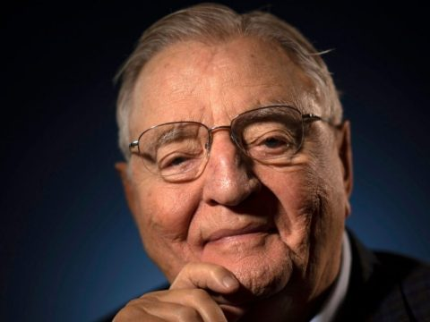 Former Vice President Walter Mondale photographed at his Minneapolis condo, April 30, 2019. (Photo/JTA-Star Tribune via Getty Images)