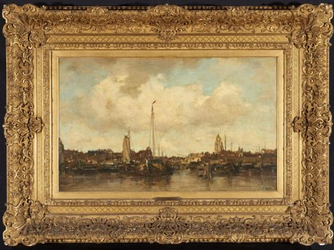 """""""View of Amsterdam"""" by Jacob Maris, ca. 1870 (Photo/Courtesy FAMSF)"""