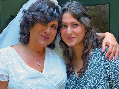 Judy Penso with 23-year-old daughter Amalya, April 30, 2021.