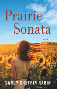 cover of the book shows a girl, seen from behind, walking through a field of sunflowers