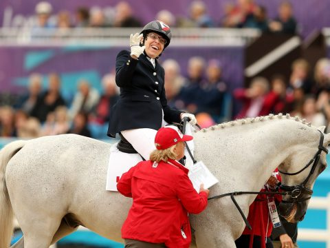 Jody Schloss competes in the 2012 Paralympics in London. (Photo/JTA-Scott Heavey-Getty Images)