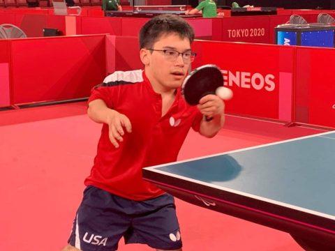 Ian Seidenfeld trains in Tokyo. (Photo/USA Table Tennis on Facebook)
