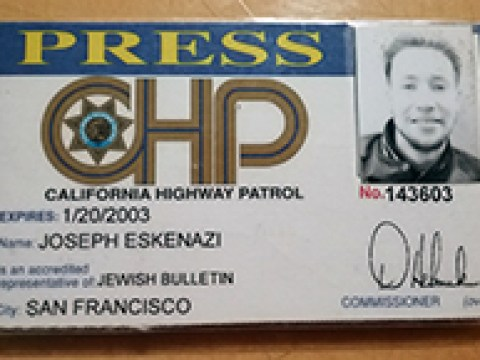 Press card memento from the old days.