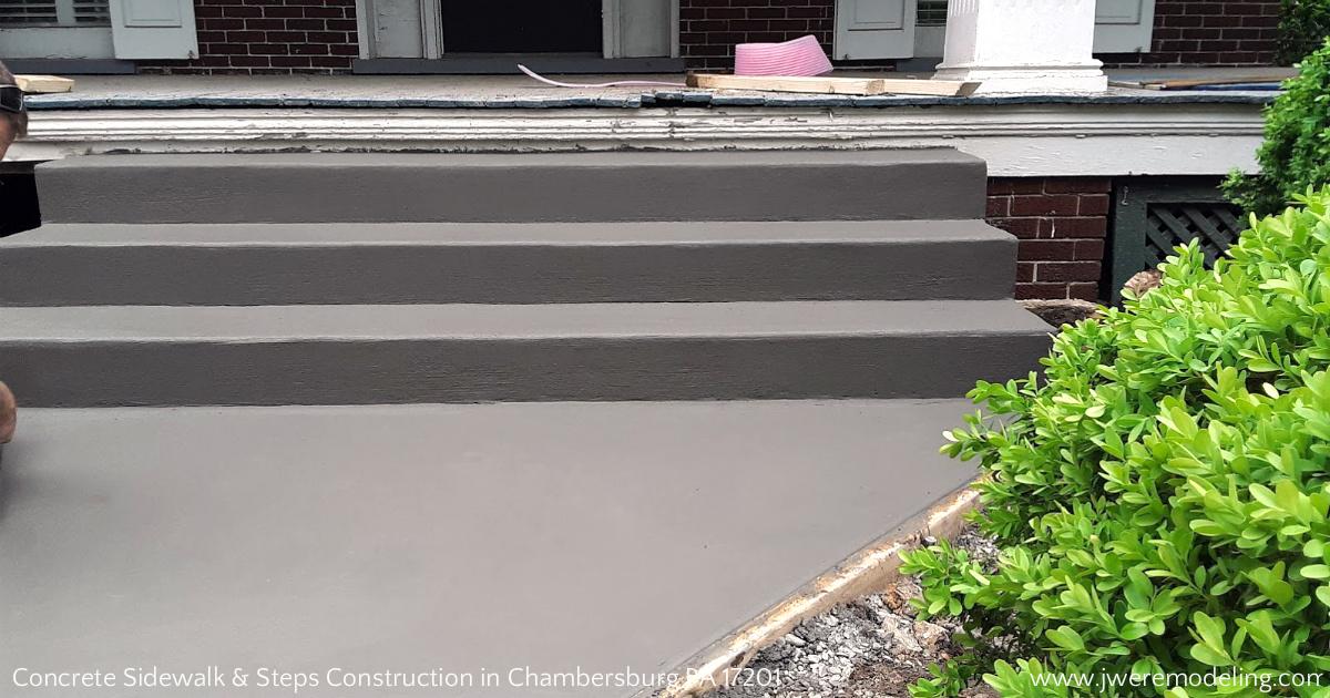 Chambersburg PA 17201 Concrete Sidewalk & Steps Contracting