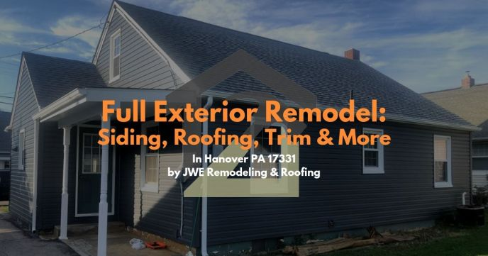 Siding contractor exterior renovation by JWE remodeling and roofing hanover pa 17331