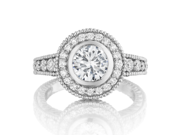 custom halo engagement ring la jolla san diego