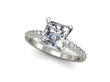 custom princess cut engagement ring in san diego