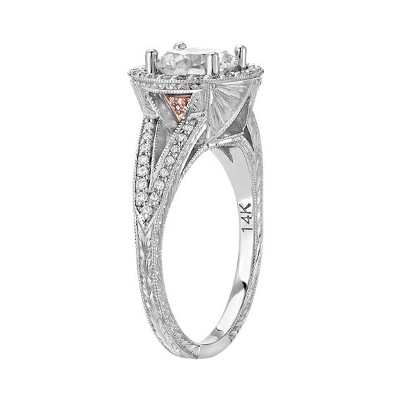 custom engagement ring with antique style