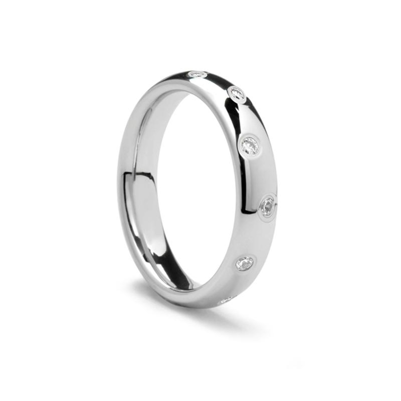 womens benchmark wedding band with offset diamonds