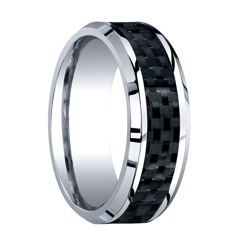 cobalt chrome mens wedding band benchmark rings