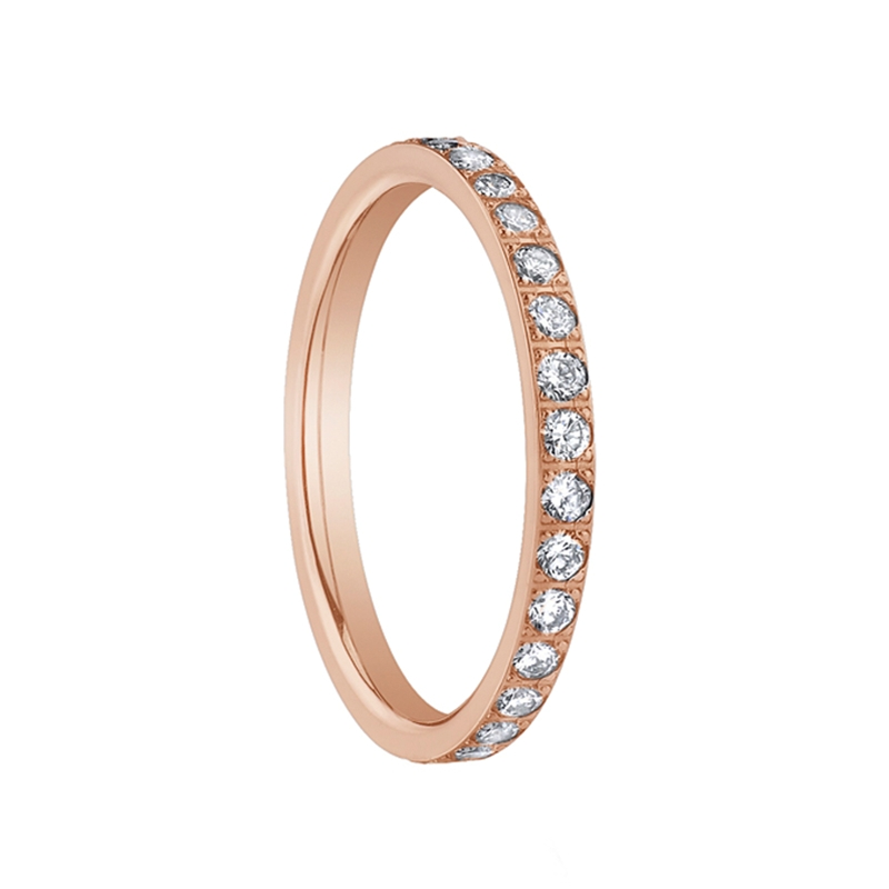 rose gold womens diamond eternity wedding band by benchmark rings