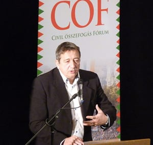 Zsolt Bayer, Founder of the Hungarian political party Fidesz, in 2016.