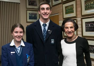 Students with Governor Marie Bashir