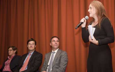 Christiner Forster, Jonatha O'Dea, Johad Dib and Rabbi Jacqgu di ninio