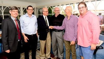 Prof. Raanan Rein, Yossi Tal, Prof. Joseph Klafter, David Dinte, Prof. Henry Brodaty and Ray Whitten