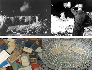 1933, the Nazi Deutsche Studentenschaft burning the books of Heinrich Heine, Albert Einstein, Bertolt Brecht, Franz Kafka, Stefan Zweig and Sigmund Freud