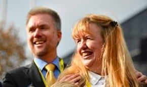 Dennis Brian at the SNP conference [Facebook]