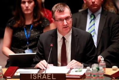 Amb. David Poet, Israel's Deputy Permanent Representative to the U.N., addresses the U.N. Security Council. Credit: U.N. photo/Paulo Filgueiras.