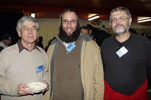 Dick Smith, Rabbi Mendel Kastel, St Vincent de Paul CEO Peter Hearne