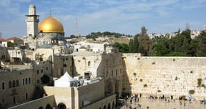 Dome of the Rock and the Western Wall