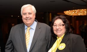 Clive Palmer and Marsha Foxman