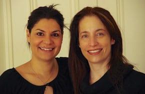 Presenter Sandra Ifrah and events coordinator Lauren Gabrie