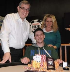 Engel's parents watch him win WSOPC ring #5