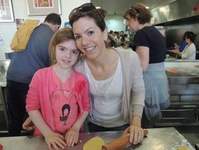 Isabella Leibman with Mum Vanessa