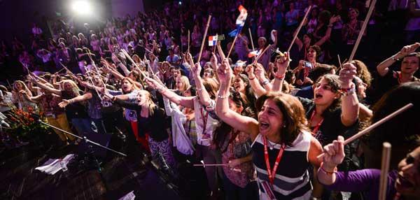 Jewish mothers enjoying the event