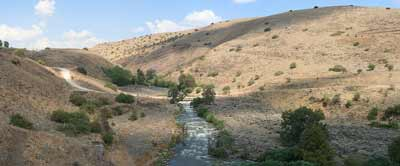 """The Jordan River (pictured) is """"the only river on planet earth that on its good days is a few feet wide, and people claim that it has a bank 40 miles wide [spanning across Judea and Samaria],"""" says Dani Dayan, chief foreign envoy of the Yesha Council. Credit: Beivushtang via Wikimedia Commons."""