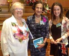 Josie Lacey, Governor Marie Bashir and Jamie Liftschitz