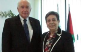 Sir Jim McLay and Hanan Ashrawi