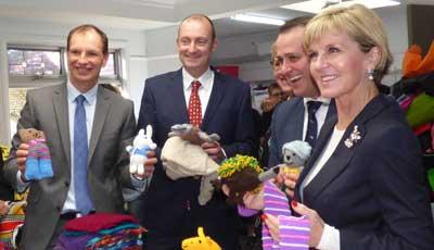 David Southwick, Owen Guest, Tim Wilson and Foreign Minister Julie Bishop