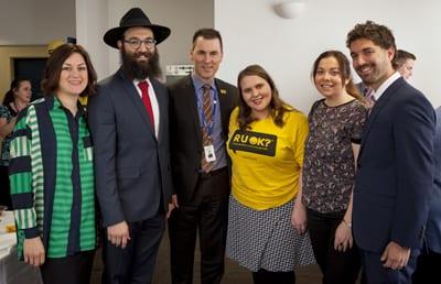 Miram Lange, Rabbi Schneier Lange, Bill Appleby, Cassandra Barrett, Annette Matov and Dr Dov Degen