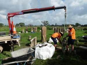 Repairing the cemetery